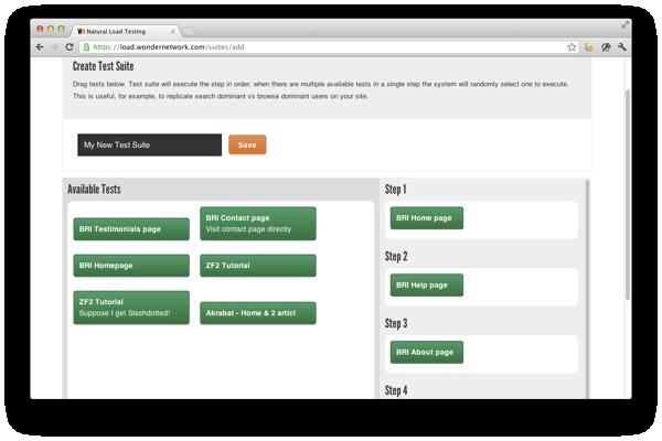 Create new test suite
