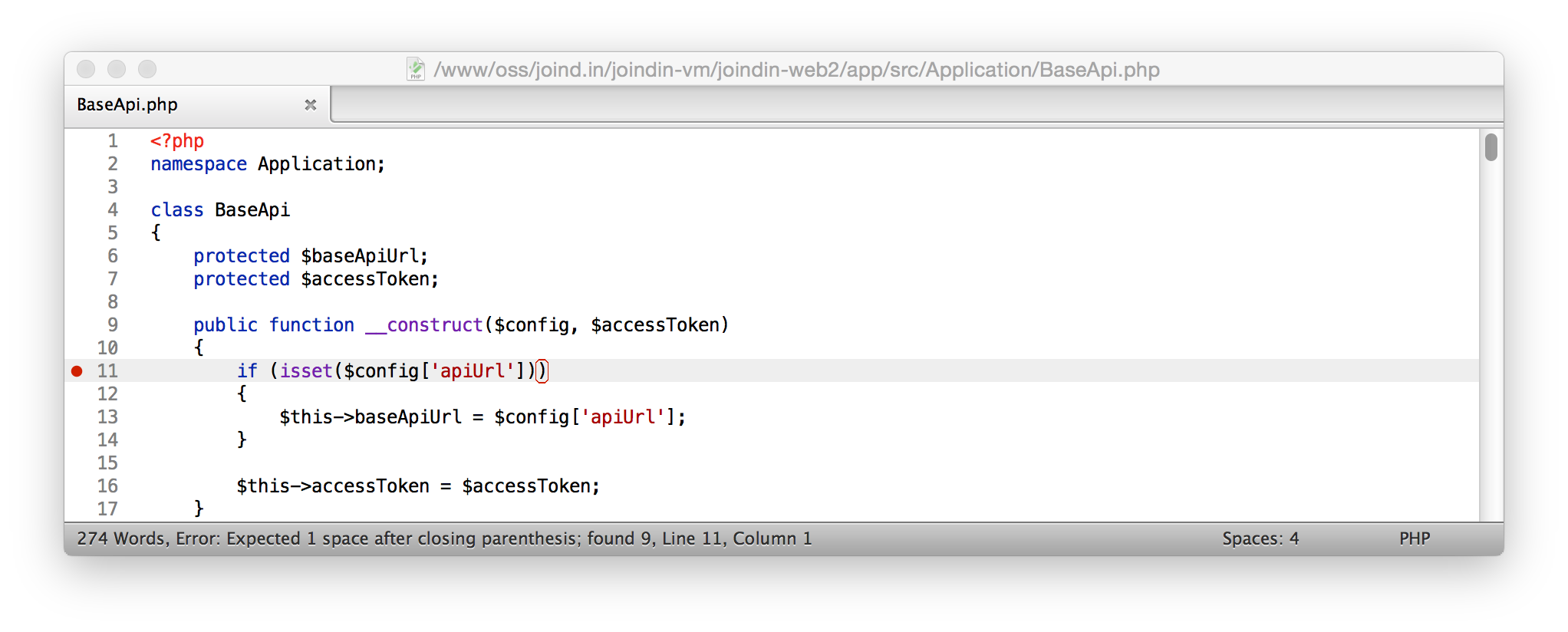 Checking your code for PSR-2 – Rob Allen's DevNotes