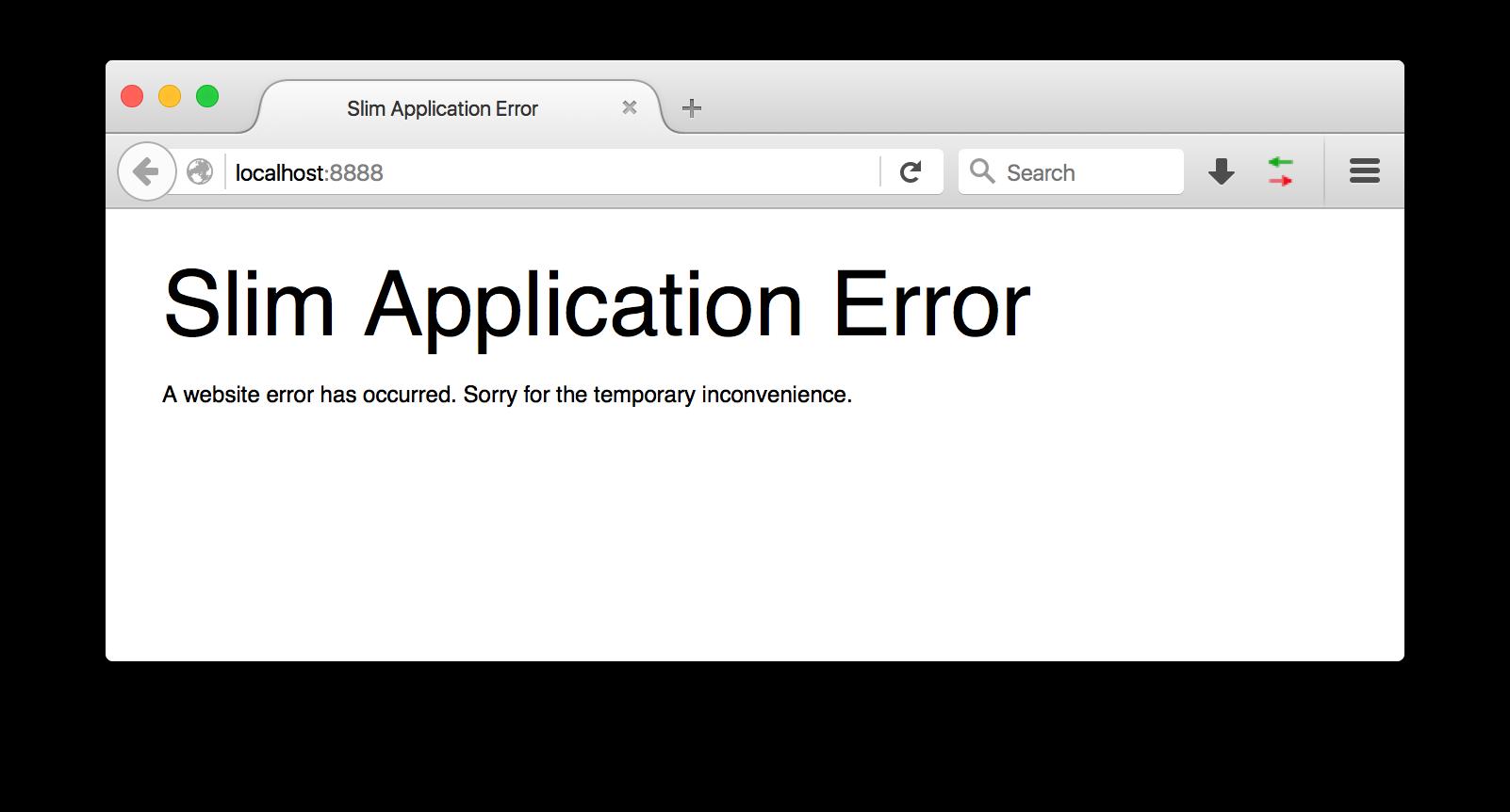 Slim error 1